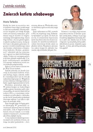 Restauracja Banjaluka - format 1/4 strony