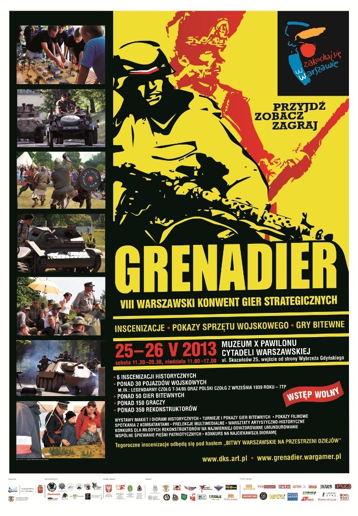 VIII Warszawski Konwent Gier Strategicznych GRENADIER 25–26 V 2013