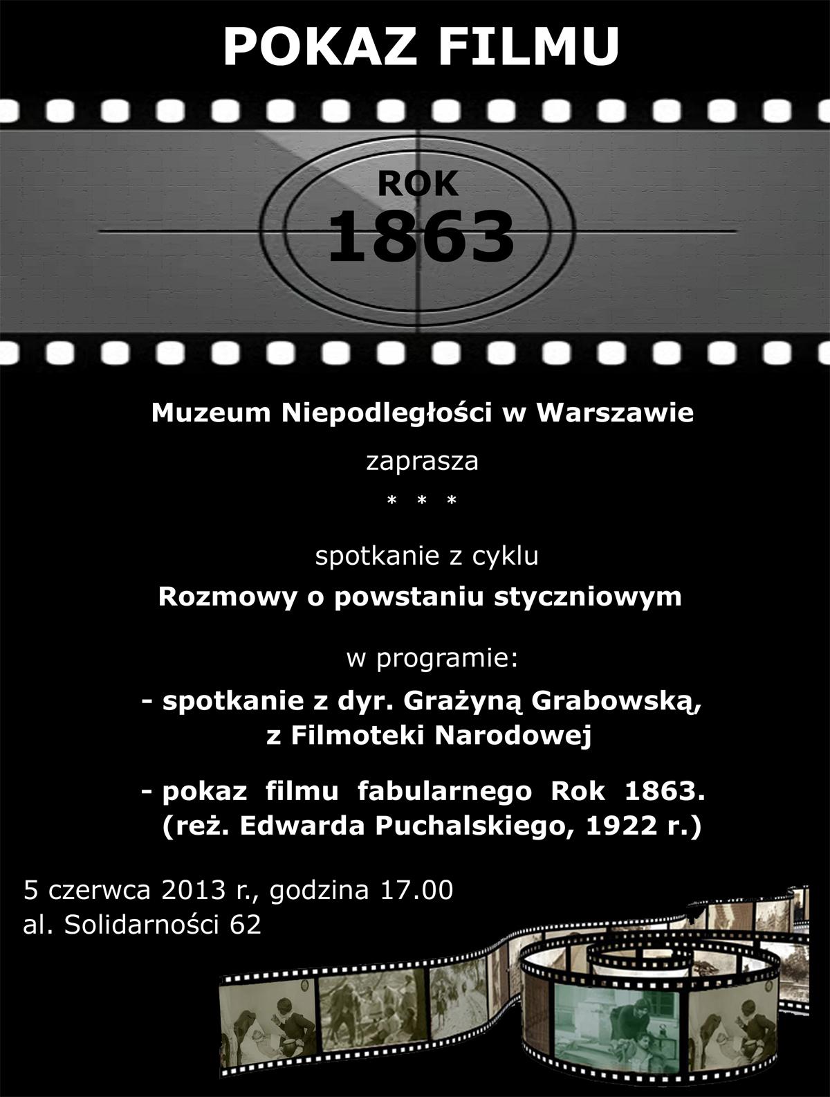 """Pokaz filmu """"Rok 1863"""" w Muzeum Niepodległości w Warszawie"""