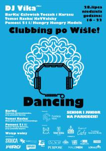 dancing_plakat_CLUBBING-PO-WIŚLE