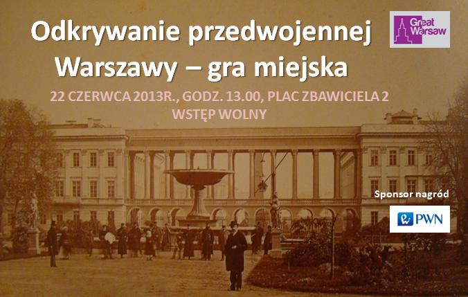 Odkrywanie Warszawy przedwojennej – gra miejska