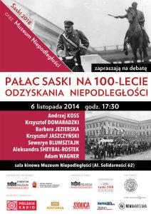 Pałac Saski na 100-lecie odzyskania niepodległości