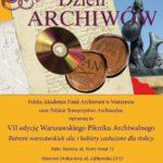 VII Warszawski Piknik Archiwalny – sobota 11 czerwca