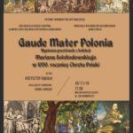 """Wystawa """"Gaude Mater Polonia"""" w Bibliotece na Koszykowej"""