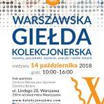II Warszawska Giełda Kolekcjonerska 14.10.2018